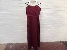 Ladies BELLA FORMALS Venus Burgundy Wedding Party DRESS UK 8 Linzi Jay Headpiece