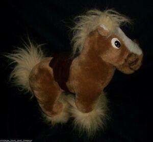 "10"" VINTAGE DISNEY BEAUTY & BEAST BROWN HORSE PHILLIPE STUFFED ANIMAL PLUSH TOY"