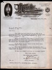 1916 Chicago IL - Aladdin Mantle Oil Lamp Co of America - Letter Head Rare