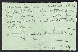 Autografo dello scrittore Guido da Verona (Saliceto Panaro, 1881 - Milano, 1939)