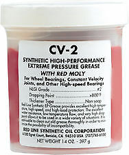 NEW Red Line 80401 CV 2 Synthetic Grease with Moly  14 Ounce Jar Pack of 4