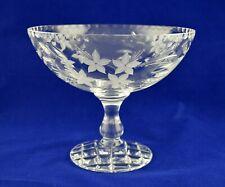 "Royal Doulton Crystal Stunning Fruit Comport Bowl - 14.2cms (5-1/2"") Tall"