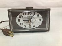 Sunbeam Lighted Dial Alarm Clock Wink Awake Paper Tag Works SEE VIDEO
