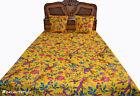 Indian Handmade Quilt Vintage Kantha Bedspread Throw Cotton Blanket Gudri a2