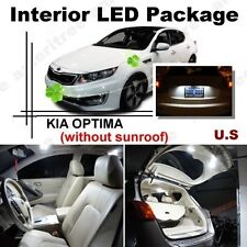 For Kia Optima w/o sunroof 2011-2015 White LED Interior kit+ White License Light