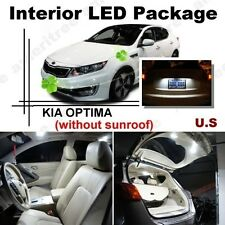 For Kia Optima w/o sunroof 2011-2015 White LED Interior kit+ White License Light