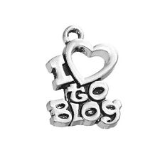 20Pcs I Love To Blog Tibetan Silver Jewelry Charms Free Shipping Pendants Lot
