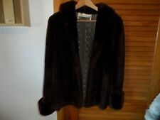 Vintage Ladies reddish brown faux fur short winter coat size M from Kaufman's