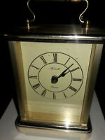 Kienzle Vintage carriage Mantle Table clock MADE IN GERMANY Works Brass Gold