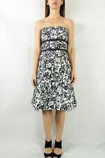 PORTMANS Black White Print Strapless Dress Size 10