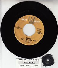 "BREAD Baby I'm A Want You 7"" 45 rpm vinyl record NEW + juke box title strip"