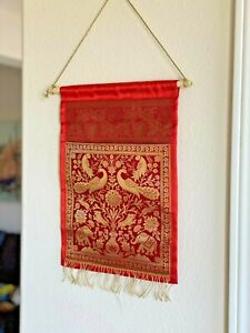 Wall decor/ Wall hanging/ Tapestry, Silk, Letter Holder,Brocade,  Mail Organizer