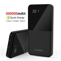 New Power Bank 500000mAh 2 USB Portable External Battery Huge Capacity Charger