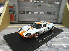 FORD GT40 V8 24h Le Mans 1968 #9 Rodriguez Bianchi Gulf Resin Spark 1:43