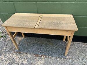 Vintage Antique Double School Desks Restoration Piece (8 In Stock) £49 Each