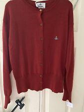 BNWT Vivienne Westwood Ladies Cardigan Size XLarge Red Designer Orb Wool