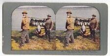 """[49318] Circa 1898 STEREOVIEW """"A BIG DAY'S LUCK AT BLACK DOG LAKE"""" No. 450"""