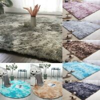Fluffy Rugs Anti-Skid Shaggy Area Rug Carpet Dining Room Home Bedroom Floor Mat