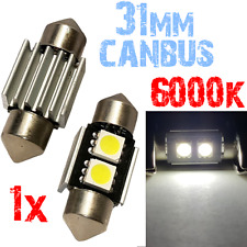 1 Lamp 31mm 6000K SMD LED 2x 5050 witte auto kenteken lamp HIGH 2à10 2A10 XINO T