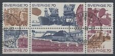 SWEDEN 1970 TRADE & INDUSTRY BOOKLET PANE FU (ID:503/D36867)