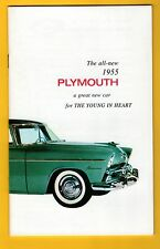 Plymouth 1955 Owners Manual Excelente Nuevo reimpresión