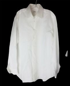 BRIONI Mens white dress shirt size 42 16 1/2 made in Italy