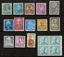 India 1955 - 63 Scott's#320 - 377 (14 Different Mint  Non Hinged Stamps)