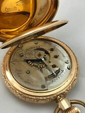 Vintage 1894-14k Solid Gold Elgin Watch Co Pocket Watch,Brooklyn Watch Case,Mark
