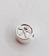 "Genuine Pandora Silver Charm ""Ice Hockey Puck"" - 791203CZ - retired"