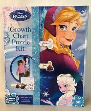 Disney FROZEN Jigsaw Puzzle Growth Chart  Kit  Wall Decor New in Box
