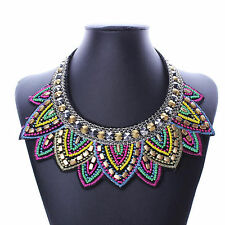 2017Vintage Fashion Bib Statement Choker Collar Necklace For Women Cheap Jewelry