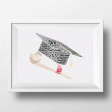 Personalised Graduation Hat Word Art, Graduation Gift Your Words