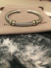 David Yurman Cable Classic Double-Station Bracelet With Emeralds And Gold 5mm