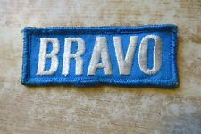 vtg old Bravo,feed seed advertising farming company brand agriculture logo patch