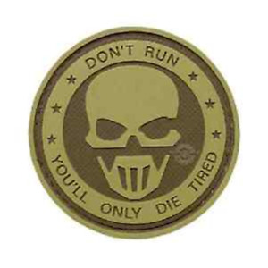 Don't Run- Ghost 5ive Star PVC Morale Patch
