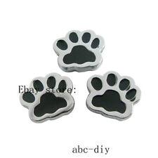 wholesale 5pcs 8mm dog paw Slide Charm Fit Pet Name Collar wristband SL0302