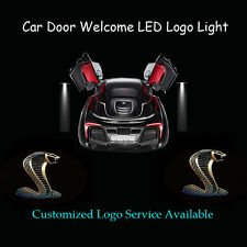 2x 3D Cobra Logo Car Door Projector Shadow LED Light for New  Shelby