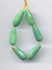 """FACETED CHRYSOPRASE ELONGATED PEAR SHAPE BEADS - 4"""" Strand - 2492"""