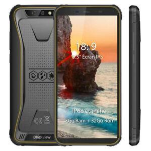 Blackview BV5500 Plus IP68 étanche Smartphone 3Go 32Go 5,5 4G Téléphone débloque