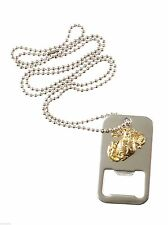 marines dog tag bottle opener stainless steel usmc marine corps rothco 8798