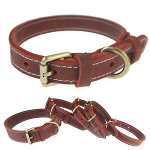 Vintage Leather Dog Collar for hunting, daily walking, training, outdoor sports
