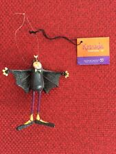 Department 56 Krinkles Halloween Ornament BAT CAT BROTHER By Patients Brewster