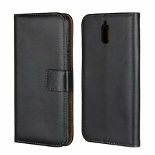 For Nokia 3.1 / 2.1 Genuine Leather Magnetic Flip Wallet Card Case Stand Cover