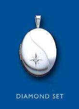 Sterling Silver Round Religious Fine Diamond Necklaces & Pendants