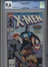 UNCANNY X-MEN #268 NM 9.6 CGC WHITE PAGES CAP AMERICA APP. JIM LEE COVER AND ART
