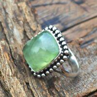 Fashion Jewelry Jewelry & Watches Pleasing Moss Prehnite Handmade Ethnic Style Jewelry Ring Size 8