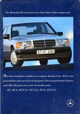 Mercedes-Benz W201 190 E 2.3 2.6 D UK market colour sales brochure 1988