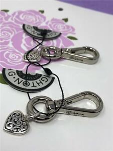 2 BRIGHTON valet hook  with heart charm.. no key ring   NWOT  2
