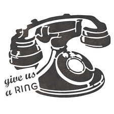 Telephone Stencil Template For Crafting Canvas DIY decor Wall art furniture