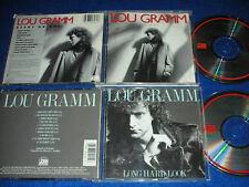 2 CD LOU GRAMM Ready or Not 1987 & long hard look 1989